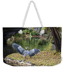 A Heron's Wings Weekender Tote Bag by Keith Boone