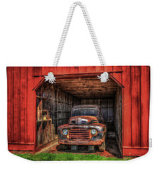 A Hiding Place 1949 Ford Pickup Truck Weekender Tote Bag by Reid Callaway