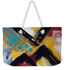 Weekender Tote Bag featuring the painting A Hint Of Teal by Suzzanna Frank