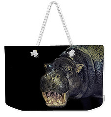 A Hippos Smile Weekender Tote Bag by Martin Newman