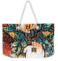 A Holiday Bouquet Weekender Tote Bag by Jim Pavelle