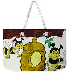 A Honey And The Bees Weekender Tote Bag