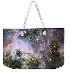 Weekender Tote Bag featuring the photograph A Hubble Infrared View Of The Tarantula Nebula by Nasa