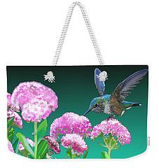 A Hummingbird Visits Weekender Tote Bag