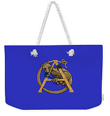 Weekender Tote Bag featuring the digital art A Is For Alphyn by Donna Huntriss