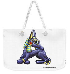 Weekender Tote Bag featuring the digital art A Is For Anubis by Stanley Morrison