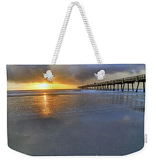 A Jacksonville Beach Sunrise - Florida - Ocean - Pier  Weekender Tote Bag