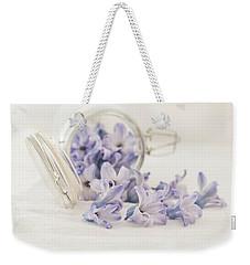 Weekender Tote Bag featuring the photograph A Jar Of Purple Sweetness by Kim Hojnacki