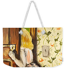 Weekender Tote Bag featuring the painting A Journey Begins by Maria Langgle