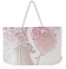 A Jug Of Soft Pink Peonies Weekender Tote Bag