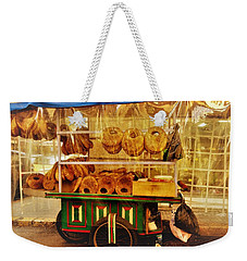 A Kaake Street Vendor In Beirut Weekender Tote Bag by Funkpix Photo Hunter