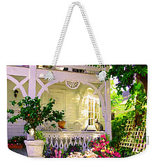 A Key West Porch Weekender Tote Bag by David  Van Hulst