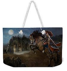 Weekender Tote Bag featuring the digital art A Knight's Lady by Melinda Hughes-Berland