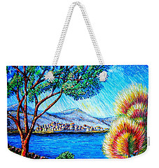 Weekender Tote Bag featuring the painting A La... by Viktor Lazarev