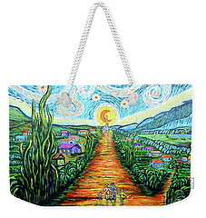 Weekender Tote Bag featuring the painting A La Vincent by Viktor Lazarev