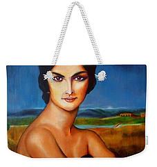 A Lady Weekender Tote Bag