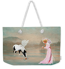 A Lady With Her Fantasy Weekender Tote Bag by Mary Timman