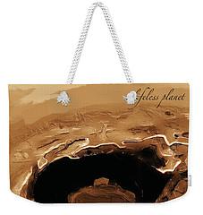 A Lifeless Planet Brown Weekender Tote Bag