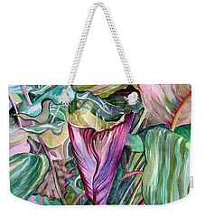 A Light In The Garden Weekender Tote Bag by Mindy Newman