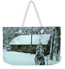 A Light In The Stone House Window Weekender Tote Bag