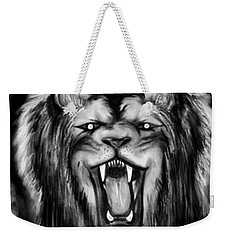 A Lion's Royalty B/w Weekender Tote Bag