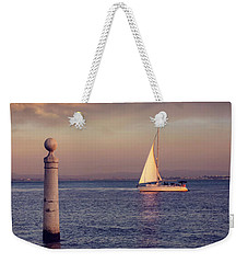 A Lisbon Sunset By The Tagus River Weekender Tote Bag by Carol Japp