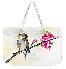 A Little Bother Weekender Tote Bag by Amy Kirkpatrick