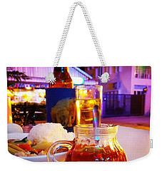 Weekender Tote Bag featuring the photograph A Little Dab Will Do Yah. It's Sliced by Mr Photojimsf