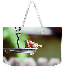 A Little Lunch Weekender Tote Bag by Wade Courtney