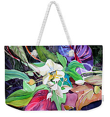 A Little Orchid Weekender Tote Bag by Mindy Newman