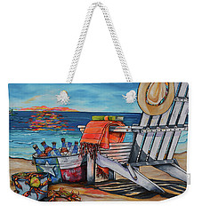 Weekender Tote Bag featuring the painting A Little Piece Of Texas Heaven by Patti Schermerhorn