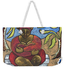 A Little Snooze Weekender Tote Bag by Julie Hoyle
