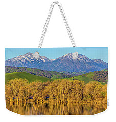 A Little Snow On Mt. Diablo Weekender Tote Bag