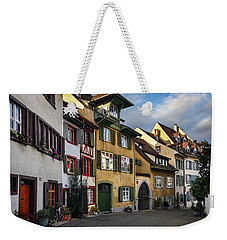 A Little Swiss Street Weekender Tote Bag by Carol Japp