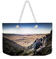 Weekender Tote Bag featuring the photograph A Long Walk Through Joshua Tree by T Brian Jones