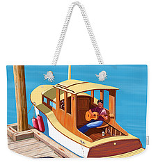 A Man, A Dog And An Old Boat Weekender Tote Bag