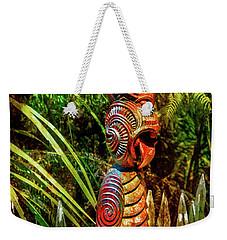 A Maori God In New Zealand Weekender Tote Bag