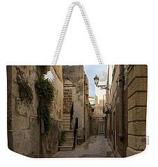 A Marble Staircase To Nowhere - Tiny Italian Lane In Syracuse Sicily Weekender Tote Bag