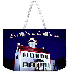 A Merry Christmas At East Point Lighthouse  Weekender Tote Bag