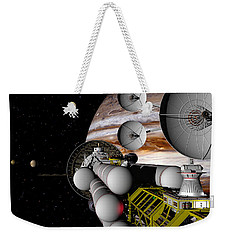 Weekender Tote Bag featuring the digital art A Message Back Home by David Robinson