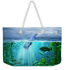 A Message In A Bottle Weekender Tote Bag