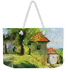 A Mighty Linden Tree At The Castle Weekender Tote Bag by Dragica Micki Fortunaa m