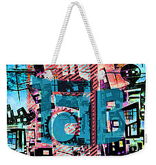 Weekender Tote Bag featuring the mixed media A Million Colors One Calorie by Tony Rubino