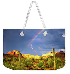 Weekender Tote Bag featuring the photograph A Miracle Of Timing by Rick Furmanek