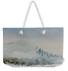 Weekender Tote Bag featuring the painting A Misty Morning by Dorothy Darden
