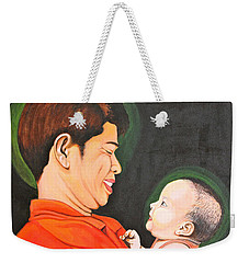 A Moment With Dad Weekender Tote Bag by Cyril Maza