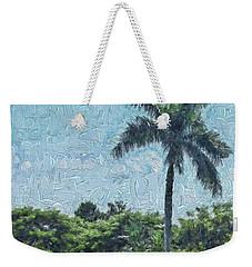 A Monet Palm Weekender Tote Bag