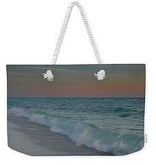 A Moonlit Evening On The Beach Weekender Tote Bag by Renee Hardison