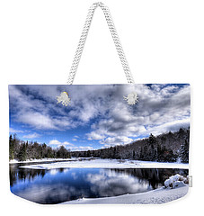 Weekender Tote Bag featuring the photograph A Moose River Snowscape by David Patterson