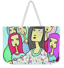 A Mother And 5 Daughters Weekender Tote Bag